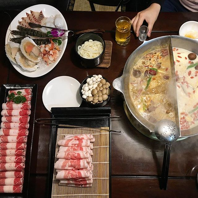 Date night steamboat, may have slightly over ordered #steamboat #taipei