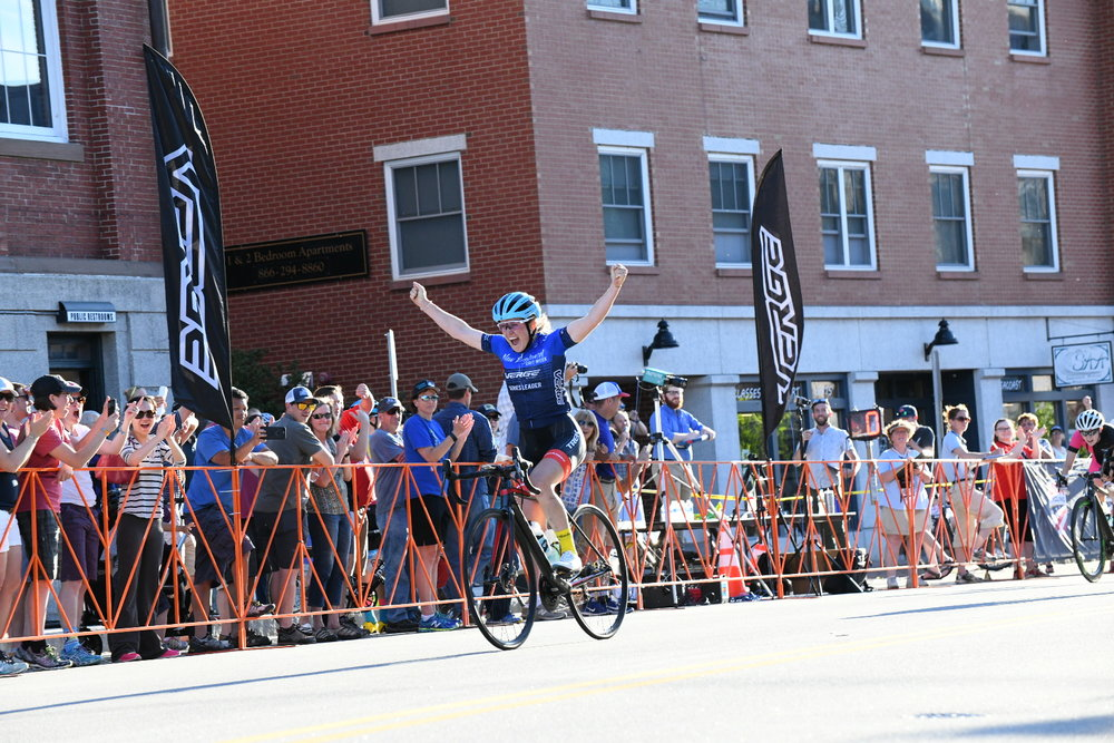 7efe9aa7c Ellen Noble (Trek Factory Racing) won out of a field sprint on Tuesday  night in downtown Exeter