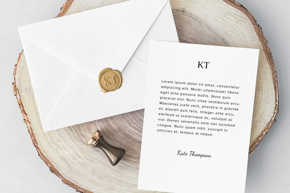 Custom wax seal and letterhead design