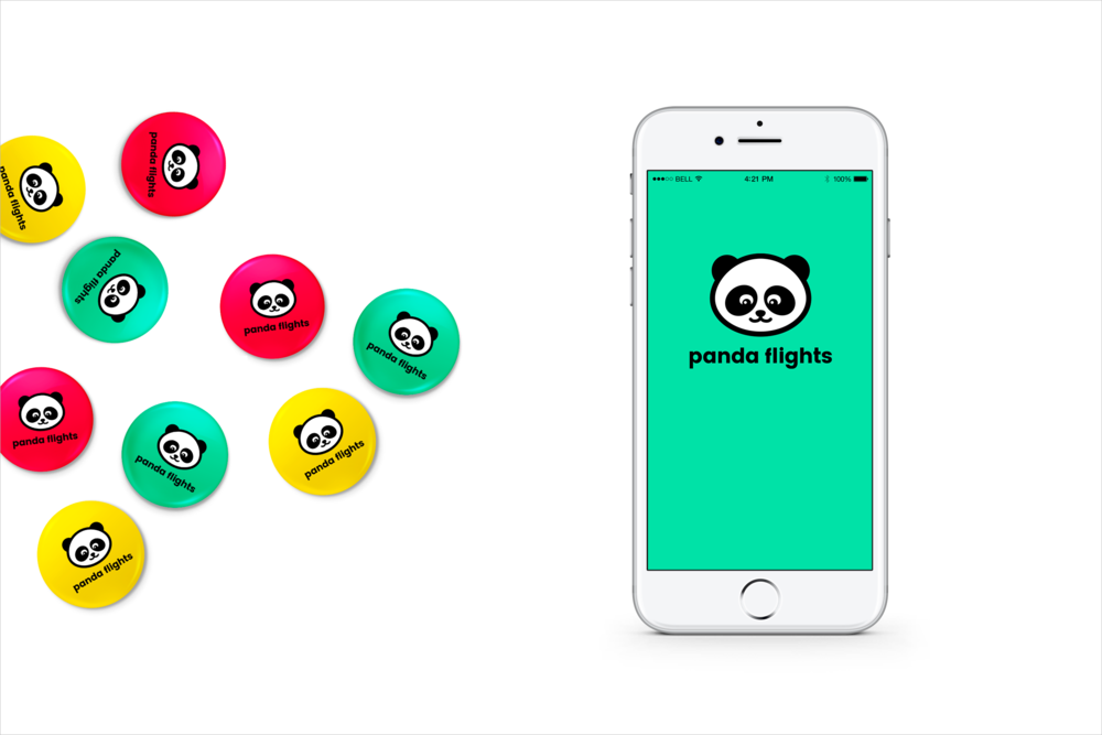 App design and visual brand identity for travel startup