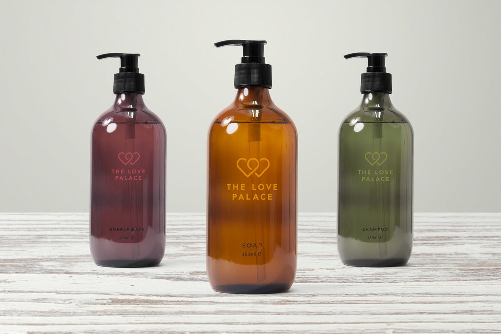 Custom packaging design for boutique hotel toiletries
