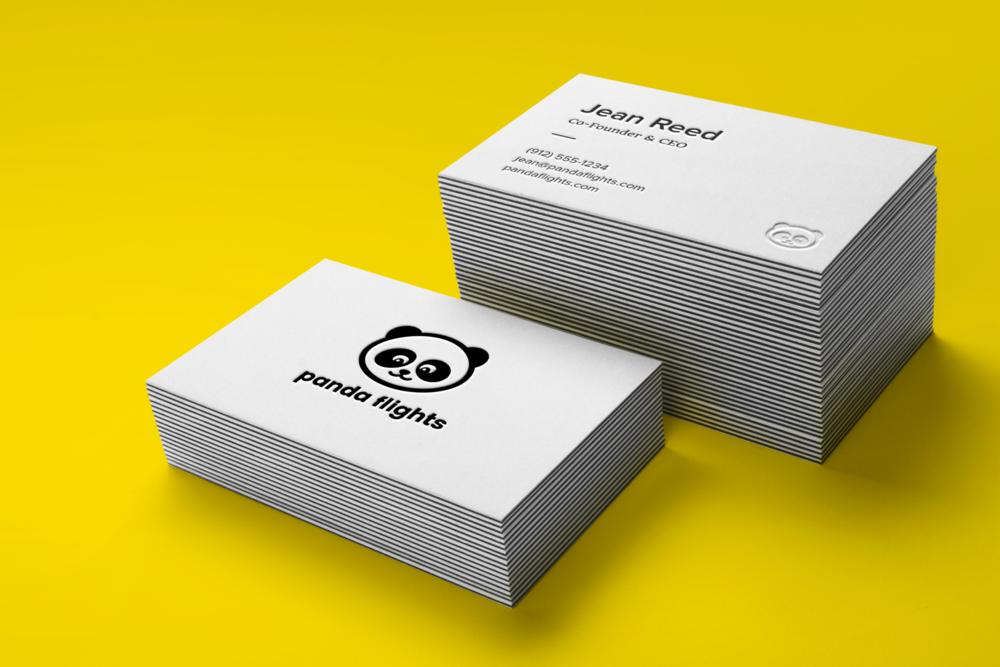 Business card design for travel startup