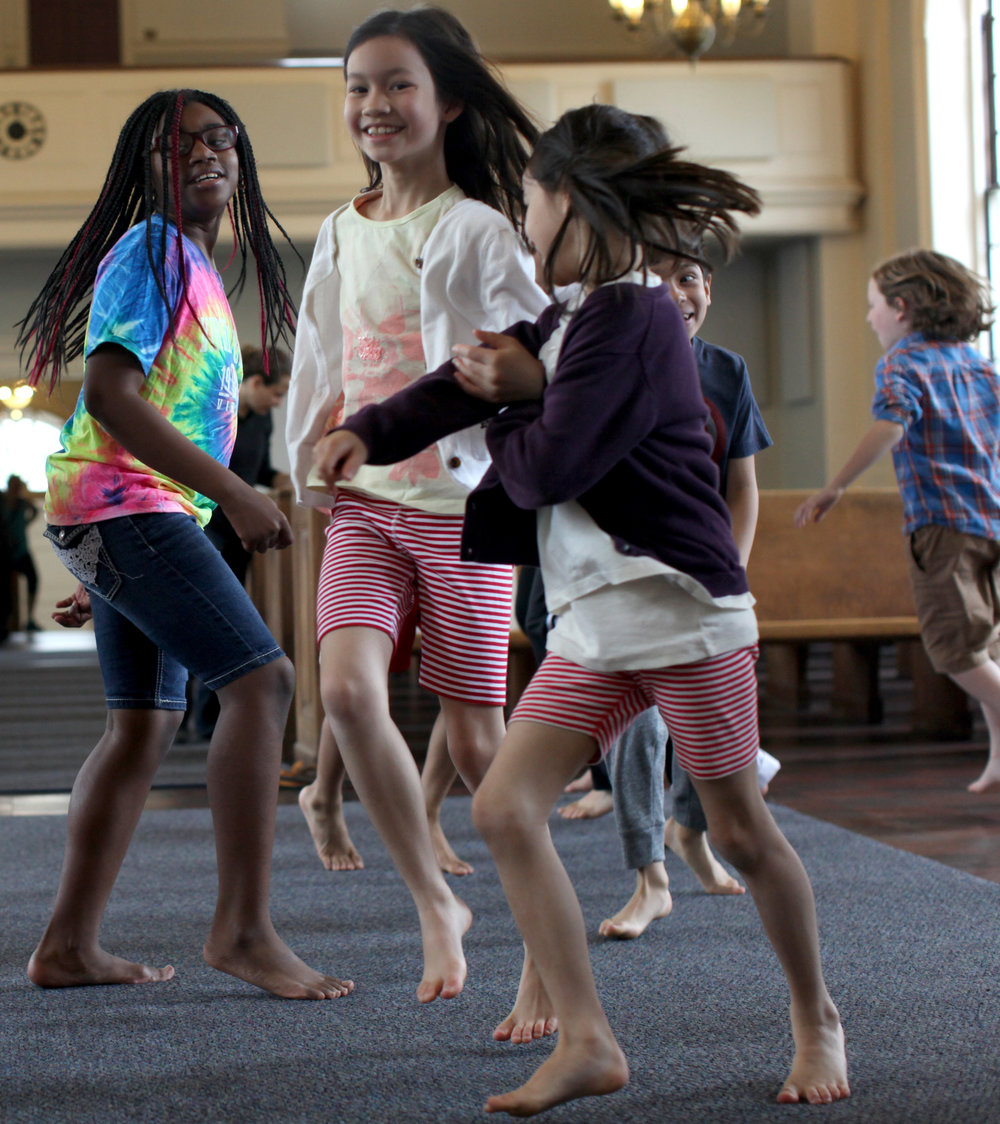 For children ages 5-8, our school offers group Dalcroze Eurhythmics classes that: -  ‣Cultivate musicality and knowledge through joyful, discovery-based experiences‣Invigorate students' imaginations‣Increase students' capacity for independent and cooperative learning‣Prepare the body as an instrument by increasing coordination, control, balance, attention, flexibility, focus, spatial awareness, emotional knowledge, and vocal precision