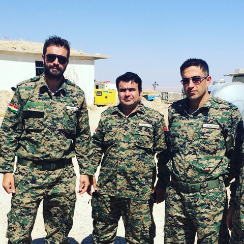 Frontline base against ISIS, embedded with head of Kurdish Intelligence, Colonel Rasol and base Commanding General.