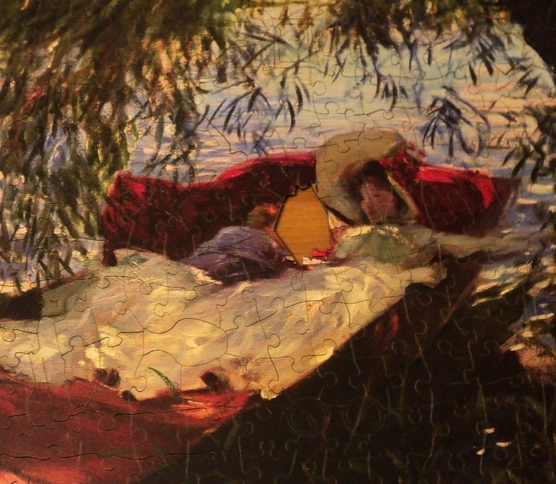 Wentworth jigsaw: A Lady and Little Boy Asleep by J.S.Sargent