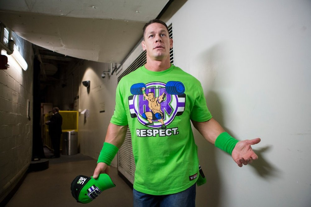 Jessica Lehrman/New York Times  JOHN CENA, WORKAHOLIC   Backstage at MSG with the wrestler-actor before a WWE event for  The New York Times