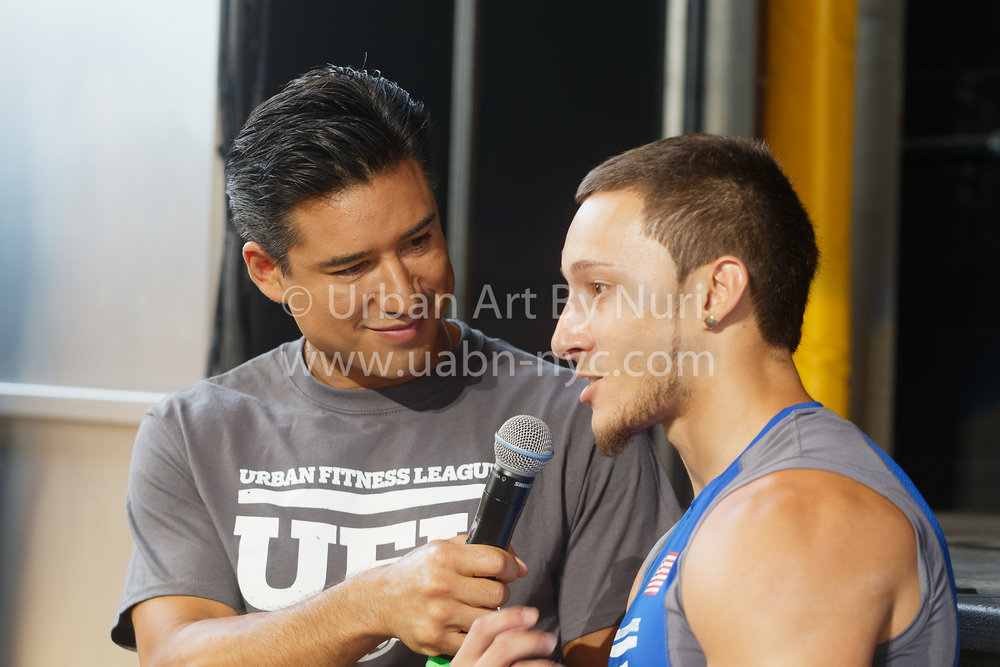 Mario Lopez interviews our brother Joseph Luis GIjoe after his impressive performance at the  #UFL  World Cup competition  out in Coney Island.