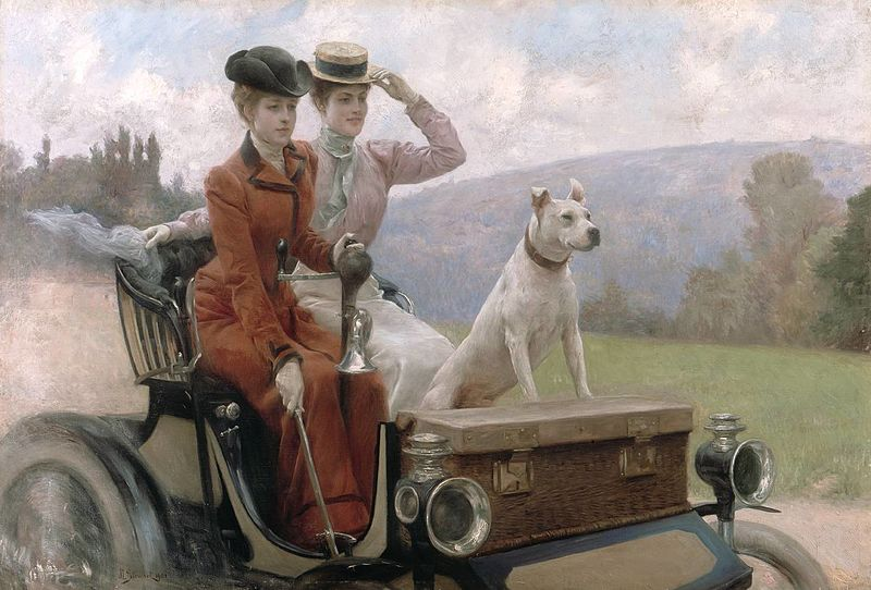 Julius_LeBlanc_Stewart_-_Les_Dames_Goldsmith_au_bois_de_Boulogne_en_1897_sur_une_voiturette.jpg