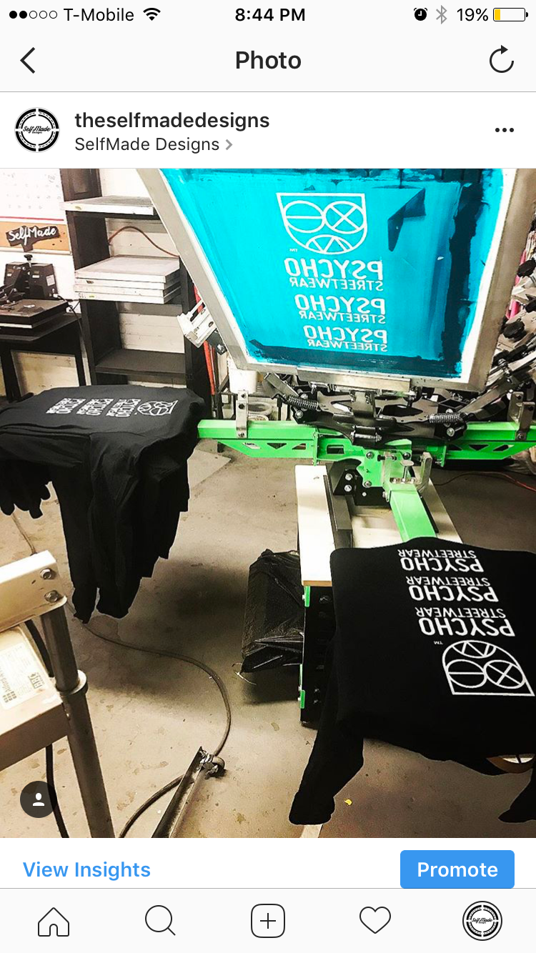 Screen Printing Custom screen printed t-shirts and outerwear. (no min quantity required)