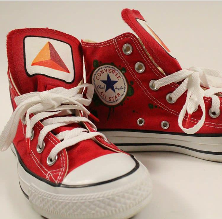 Custom Footwear Custom 1 of 1 hand painted shoes