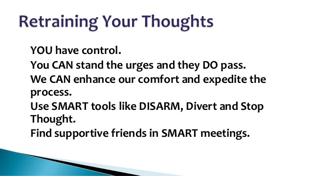 For more information about SMART Recovery's DISARM technique: http://www.smartrecovery.org/resources/library/Tools_and_Homework/Other_Homework/disarm.htm