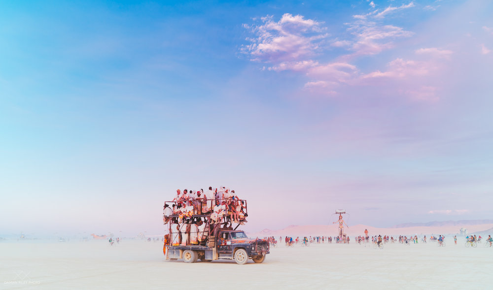 burning man car