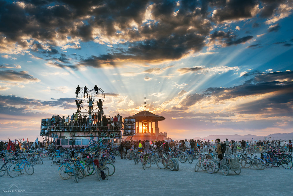 sunset at burning man