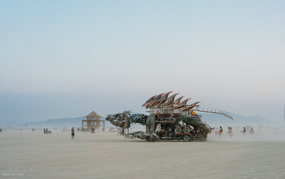 dinosaur burning man