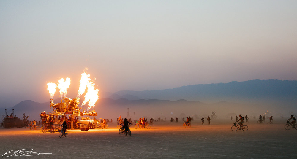 fire car burning man