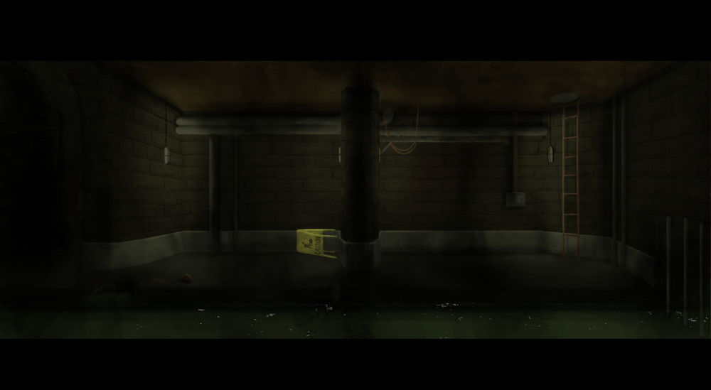 This is an environment from an indie point-and-click game I'm helping with called  A Poison Green .