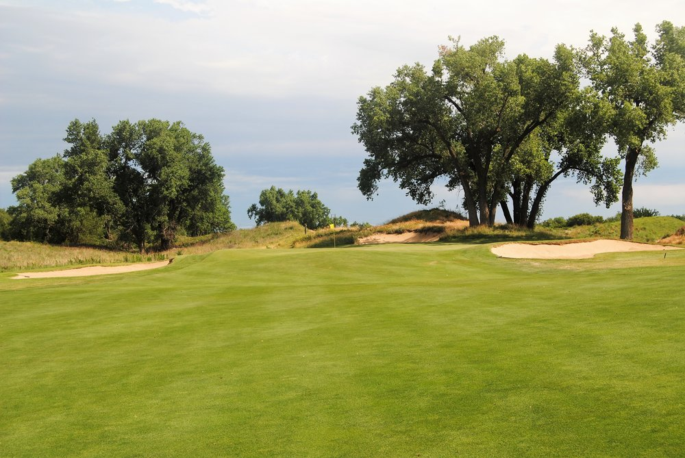 The 11th hole green. My 3 wood approach land just short of the green on the front right