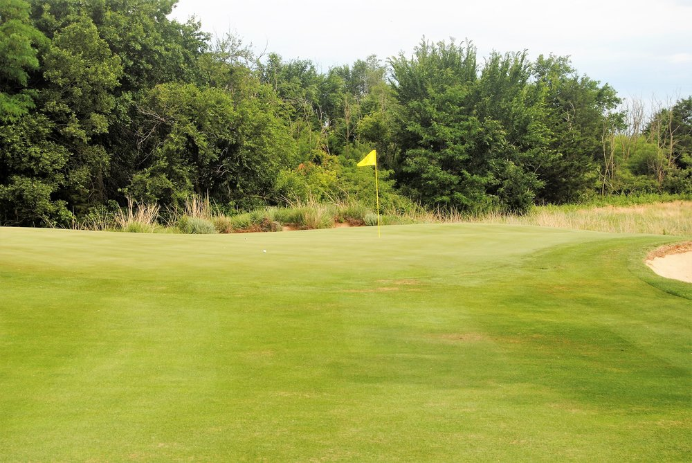 My ball on the 12th hole green following my approach shot. I missed the birdie putt, but made par.