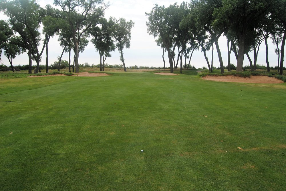 I hit my tee shot on the 14th hole over the gunch into the middle of the fairway