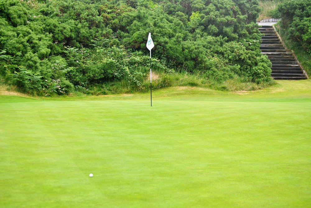 I two putted from here for a double bogey on the 13th hole
