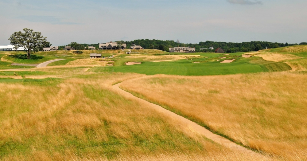 The finishing hole at Erin Hills