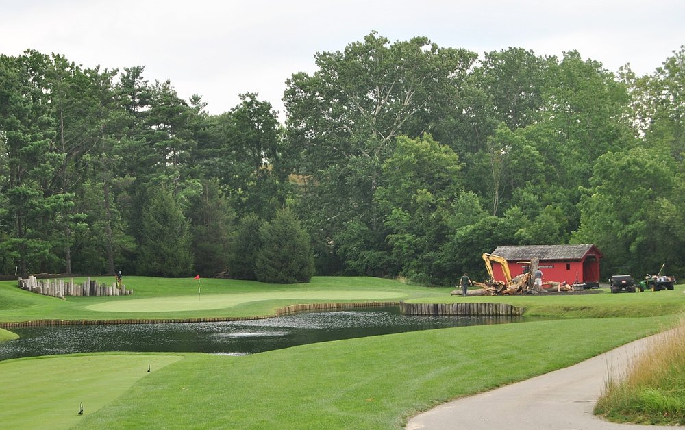 The sixth hole at Crooked Stick Golf Club.