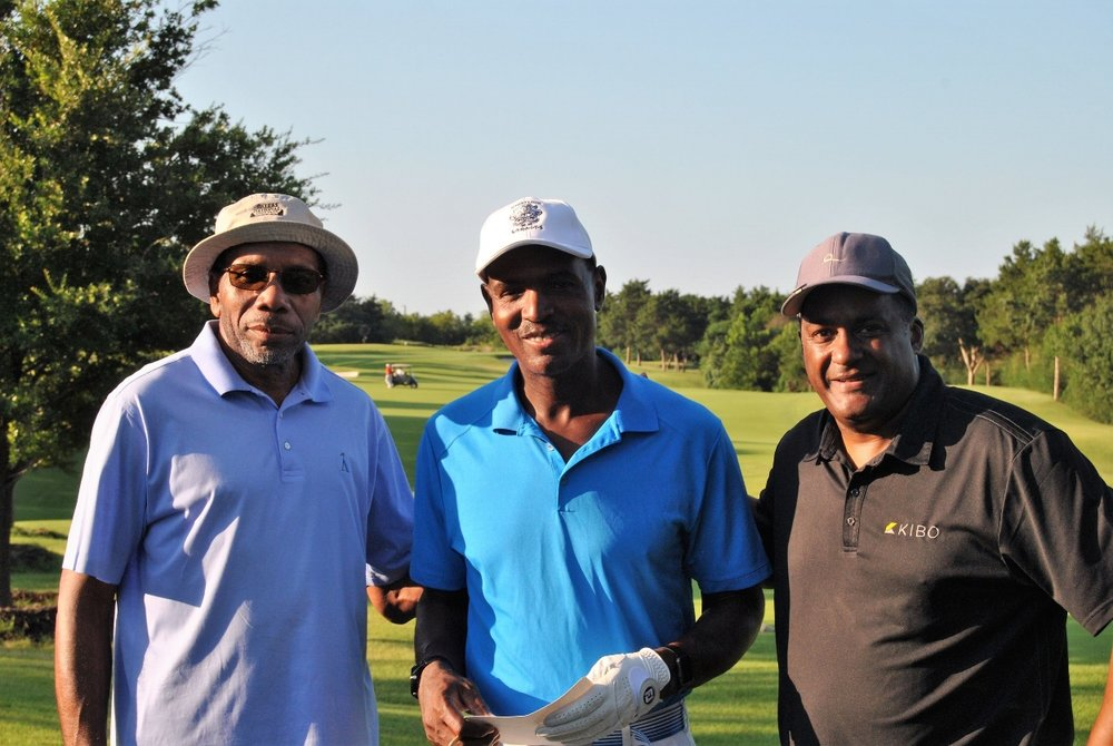 Dr. Young, me, and Kenny Frank prior to our round.