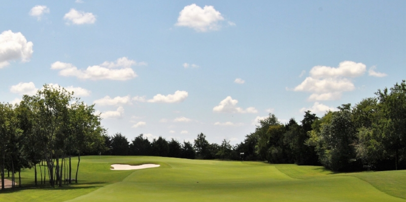 The approach to the 16th green.