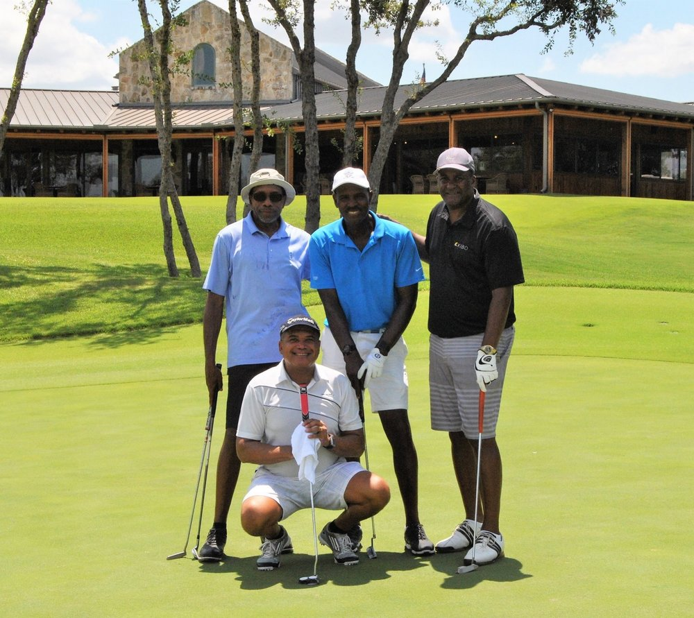 Dr. Young, Kenny, Ken and me after on round. What an amazing day!