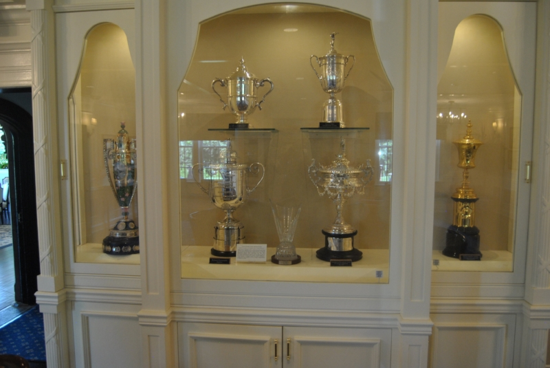 Some of the many famous trophies in the Trophy Room.