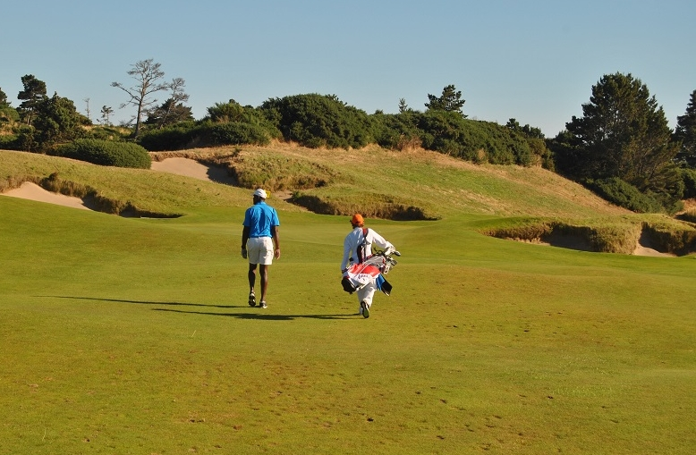 Thomas and me on the 18th Fairway as we near an end to our round.