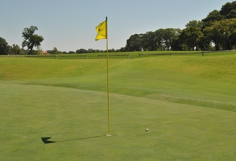 My approach shot on the 16th hole left a two foot birdie putt.