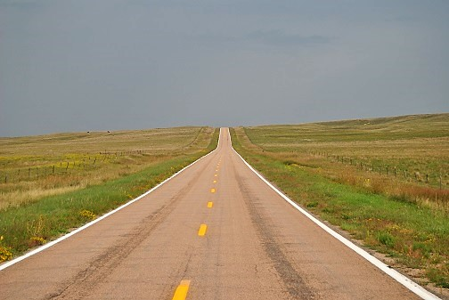 The Road through the sand hills in route to Sand Hills Golf Club