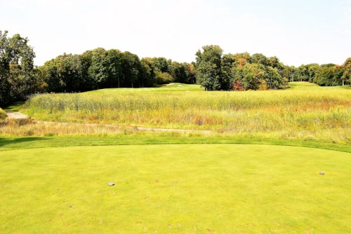 The beautiful but difficult sixth hole.