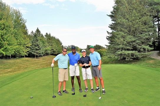 Jim, me, Danny, and Chris on the 16th tee box.