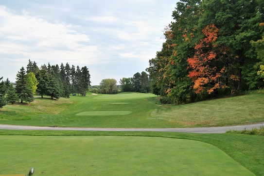 The eighteenth hole. The final hole is as beautiful as the first hole and every hole in between.