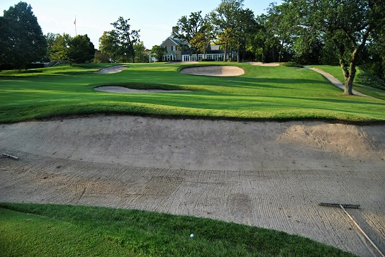 My drive on the final hole of my round at Milwaukee Country Club.