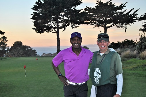 Bill and me following my round.