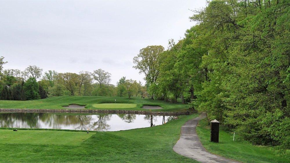 The Par 3 Fifth Hole at Quaker Ridge Golf Club