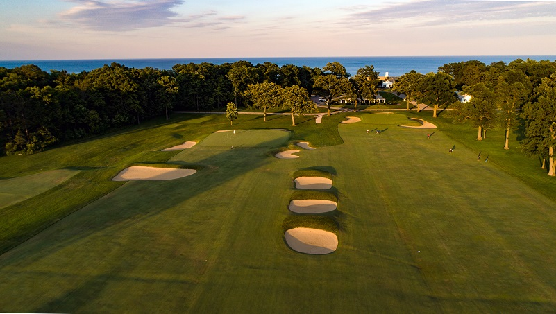 The combined ninth and eighteenth fairway (Photo courtesy of Shoreacres)