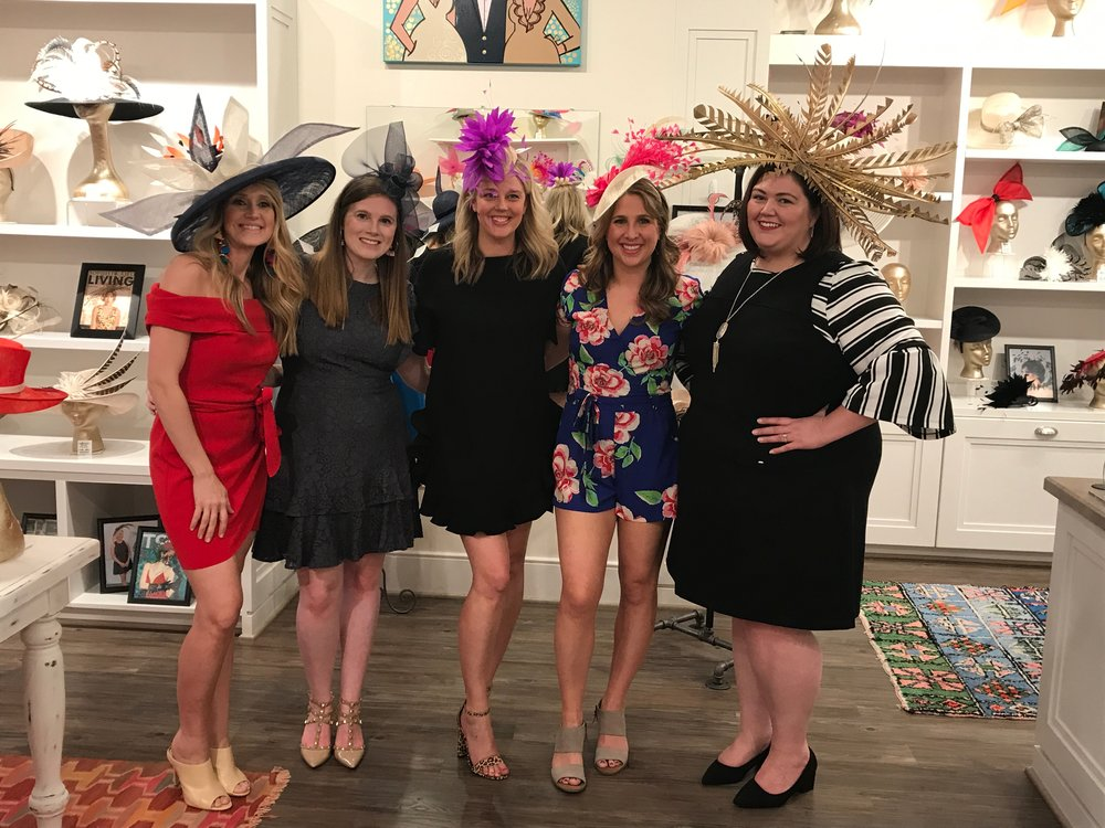 Holly Jo of Blissful Bluegrass, Ryann of Styled in Blue, Courtney of Courting Style, me, and Emmie of Authentically Emmie