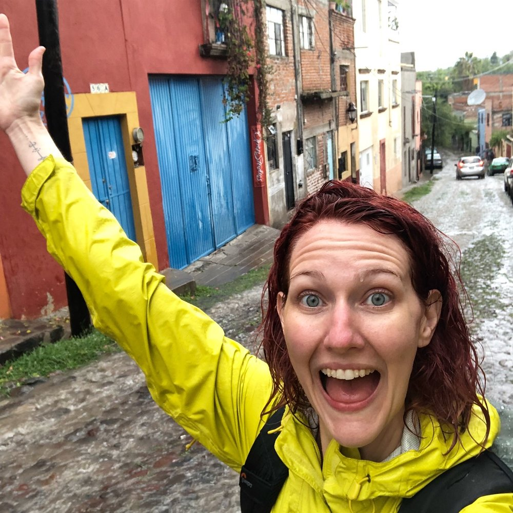 Giving my messed up day in San Miguel de Allende a second chance by traipsing in the rain.