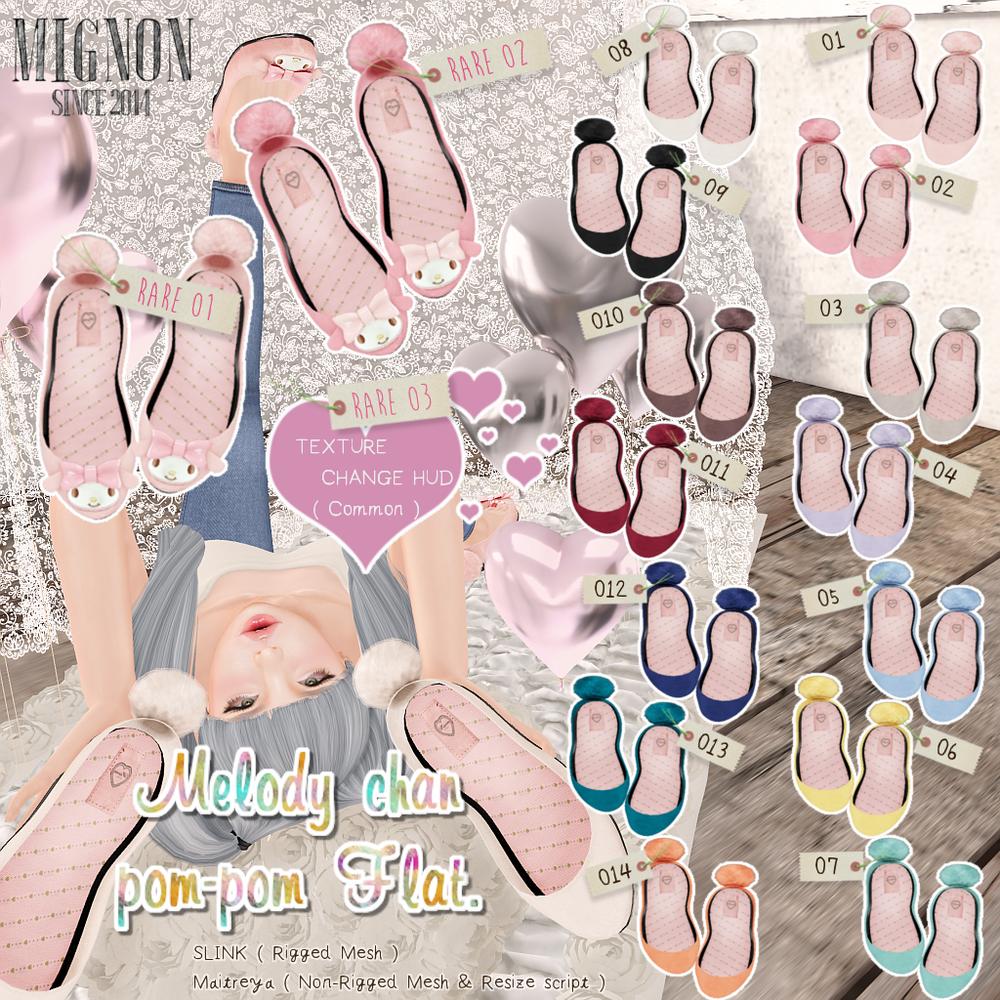 Mignon - Melody Chan Pom-Pom Flat.png