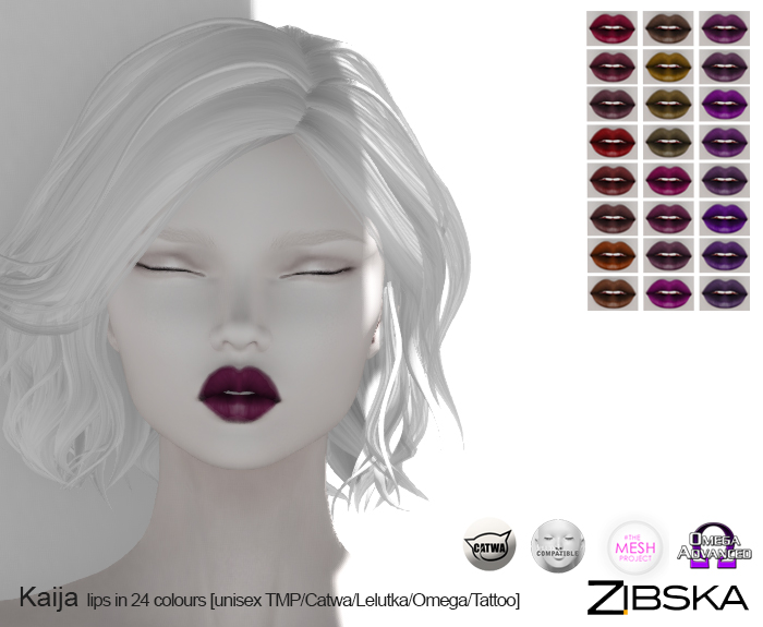 Zibska ~ Kaija Lips in 24 Colours.jpg