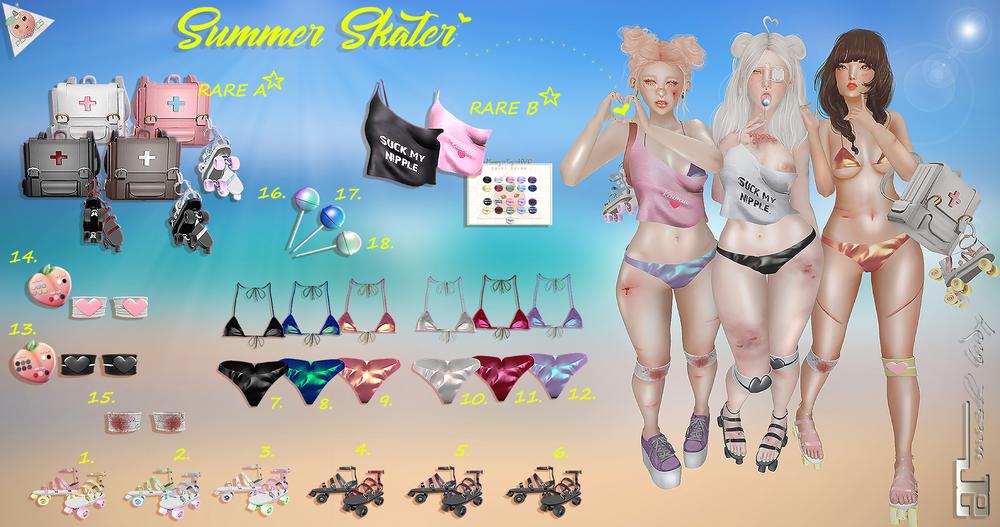 PEACHES. - Summer Skater Gacha