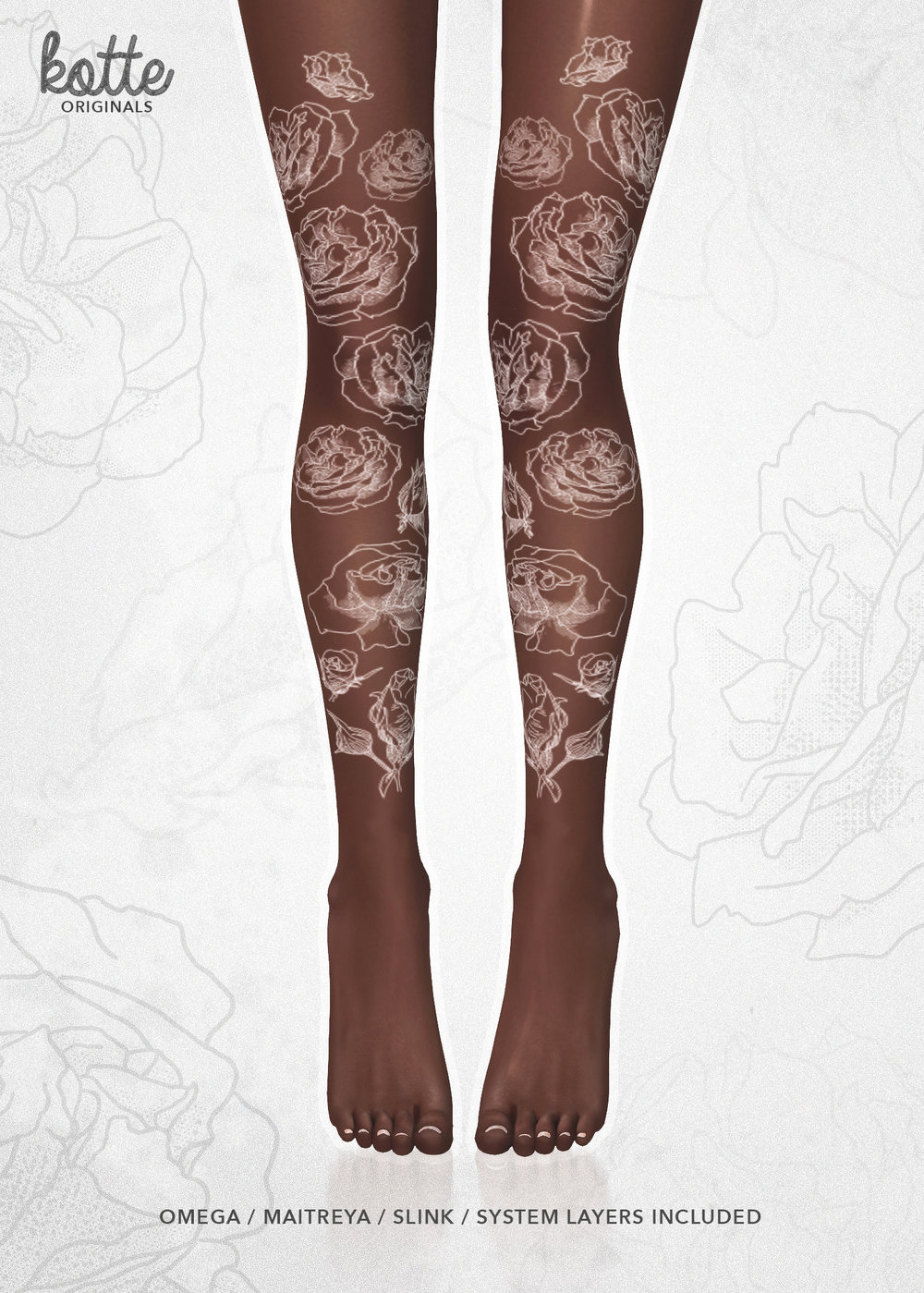 kotte - bloom tattoo white