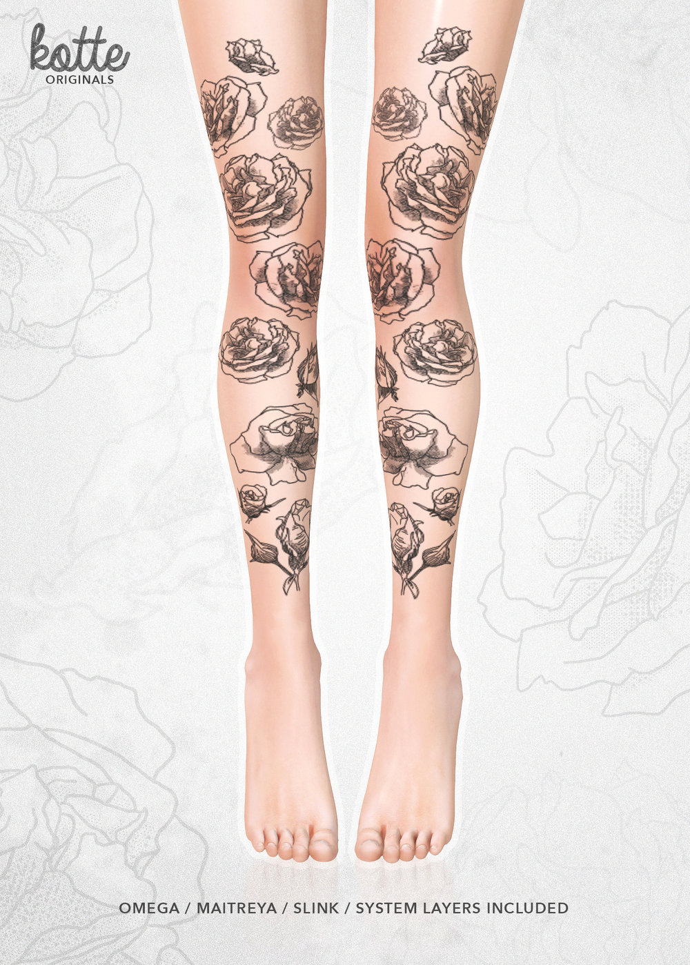 kotte - bloom tattoo black