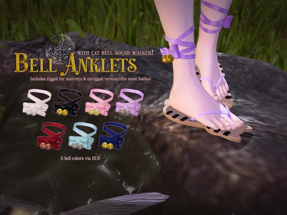 darkendStare. bell anklets