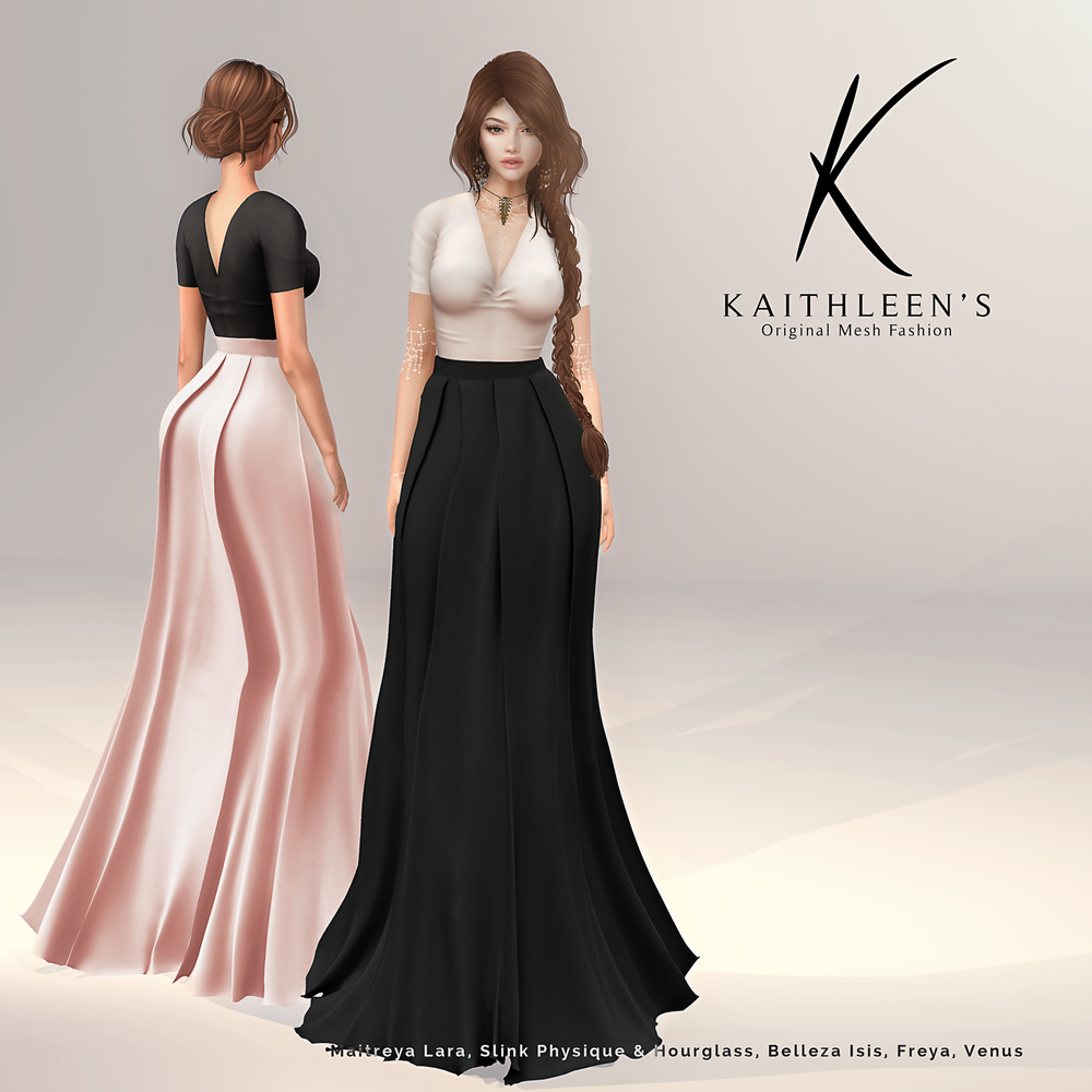 Kaithleen's Pleated Maxi Skirt Poster.png