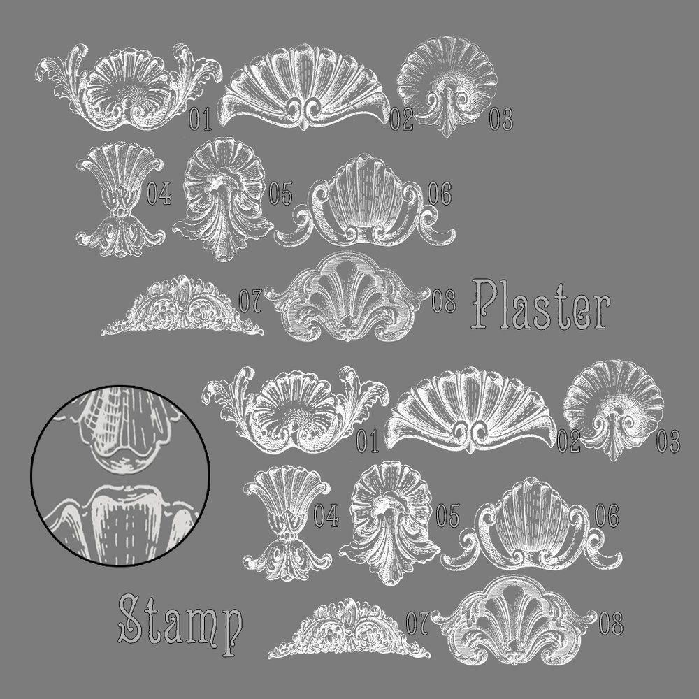 paper moon - Woodcut Architectural Ornament Wall Decals key.jpg